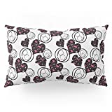 Society6 Love. Abstract Floral Pattern With Hearts . Pillow Sham King (20'' x 36'') Set of 2