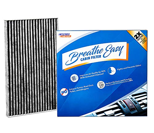 Spearhead Premium Breathe Easy Cabin Filter, Up to 25% Longer Life w/Activated Carbon (BE-177)