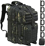 GZ XINXING 45L 3 Day Assault Pack Military Tactical Army Molle Backpack Bug Out Bag Hiking Daypack (Black Mult