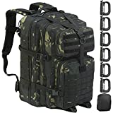 GZ XINXING 43L Large 3 Day Assault Pack Water-Resistant Military Tactical Army Molle Rucksack Backpack Bug Out Bag Hiking Daypack for Hunting Camping Hiking Traveling