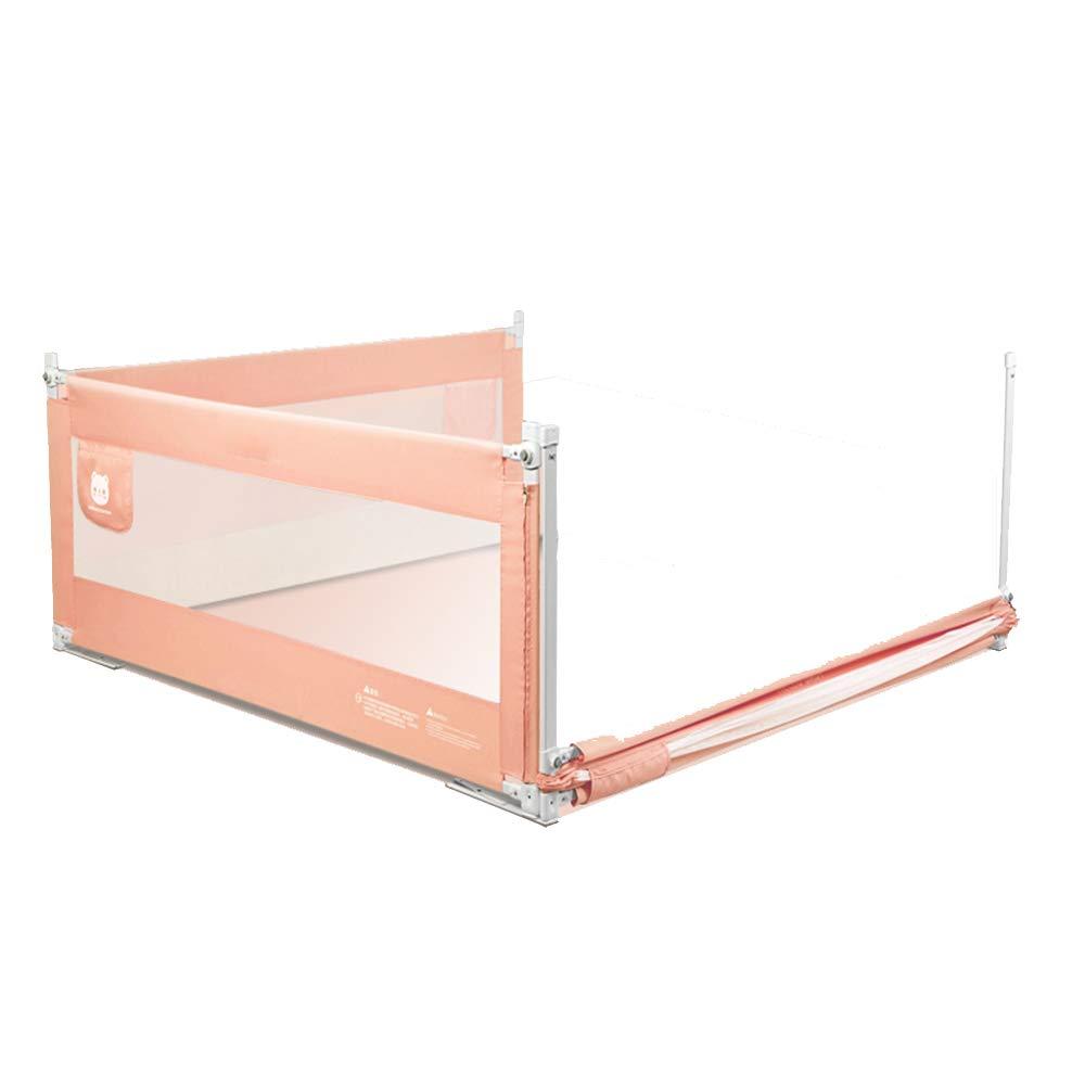 LHA ベッドガードフェンス スリーフェンスフェンス垂直リフティングベビーチャイルドベッドガードレールベッドレールバッフルユニバーサル-150 * 200 * 200,180 * 200 * 200,200 * 200 * 200 (色 : Pink, サイズ さいず : 180*200*200) 180*200*200 Pink B07L2LQVTS