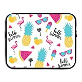 Reteone Laptop Sleeve Bag Summer Pineapple Flamingo Popsicle Cover Computer Liner Package Protective Case Waterproof Computer Portable Bags