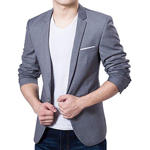 32649d2e02b0 Pishon Men s Blazer Jacket Lightweight Casual Slim Fit One Button Sport  Jackets