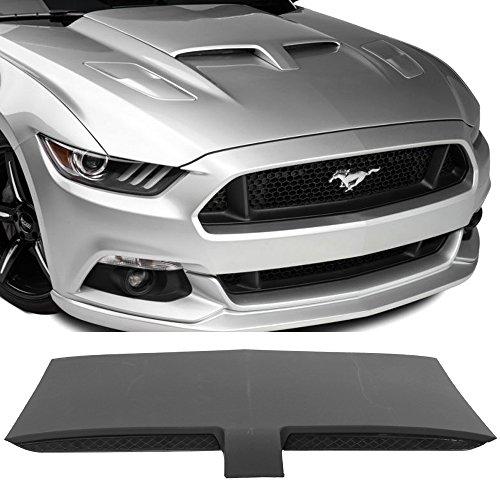 (Hood vent Fits 2015-2017 Ford Mustang | M Type Air Hood Vent Scoop Unpainted Black Polypropylene PP by IKON MOTORSPORTS | 2016)