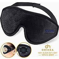 Sleep Mask for Women & Men, OriHea Upgraded 3D Contoured Eye Mask for Sleeping, Ultra Soft Breathable Sleeping Eye Mask, 100% Blackout Eye Shades Blindfold for Complete Darkness