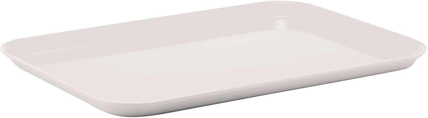 Winco Rectangular Fiberglass Tray, 15-Inch by 20-Inch, White
