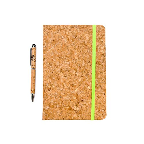 Personal Cork Cover Planner, Boost Productivity & Accomplish Goals, Mindfulness & Happiness Diary, Daily Agenda & Work Planner, For Men, Women, Boys & Girls - Green Strap and (Mens Agenda)