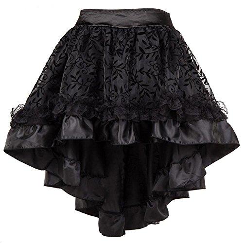 Asymmetrical Ruffled Skirt - 6