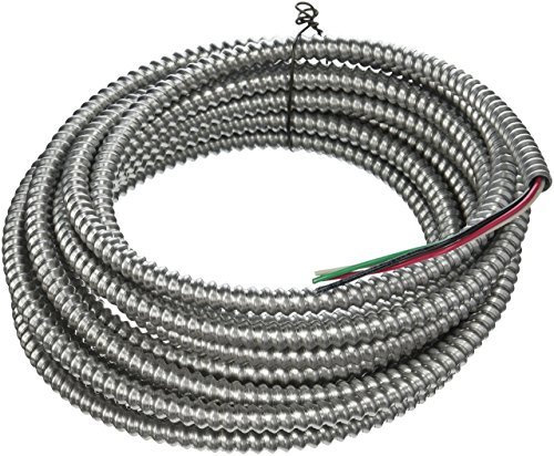 (Southwire 68582621 25 ft. 14-3 Solid CU Armorlite Metal-Clad Cable)