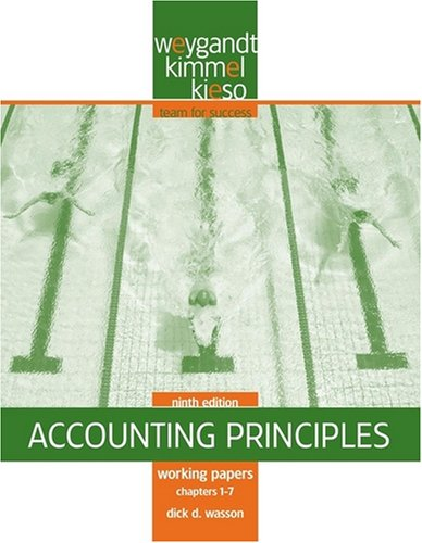 Accounting Principles, Working Papers Chapters 1-7