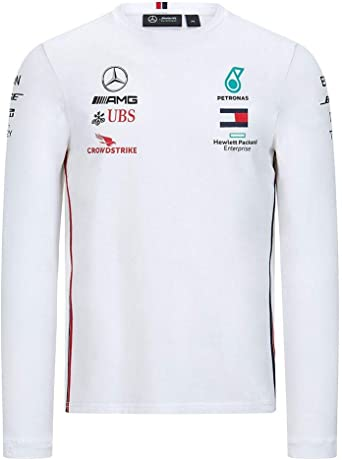 Camiseta de Manga Larga Mercedes AMG Petronas Motorsport Team F1 Formula Driver: Amazon.es: Deportes y aire libre
