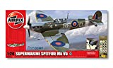 Airfix A50055 1:24 Scale Battle of Britain Memorial Flight Supermarine Spitfire MkVb WWII Aircraft Gift Set inc Paints Glue and Brushes