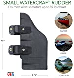 Bullnose Rudder Clamp On Rudder Kit for 24-55 Thrust Trolling Motors: Accessory for Pedal Boats, Pontoons, Kayaks, or Canoes