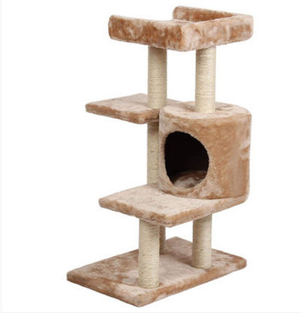 TOUYOUIOPNG Deluxe Multi Level Cat Tree Cat Play Towers Cat Nest cat Cat jumping cat grab post sisal Grind Claw Pet Supplies Cat Supplies 50  30  79cm