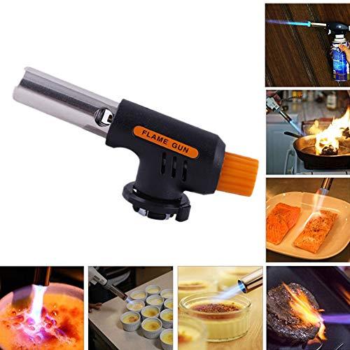 (Tharv❤ Camping Better Gas Torch Welding Fire Maker Lighter Butane Burner Flame)