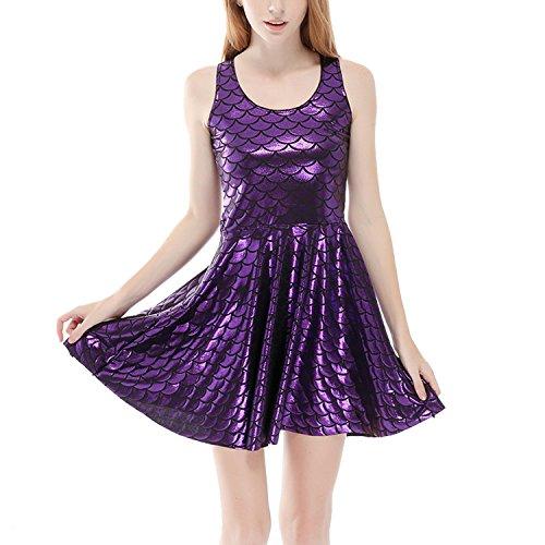 8a6d599620 Perfashion vestido brillante de mujer sin mangas con corte sirena hot sale