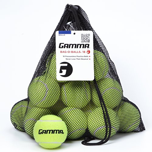 eless Tennis Balls - Sturdy & Reuseable Mesh Bag with Drawstring for Easy Transport - Bag-O-Balls (18-pack of balls, Yellow) ()