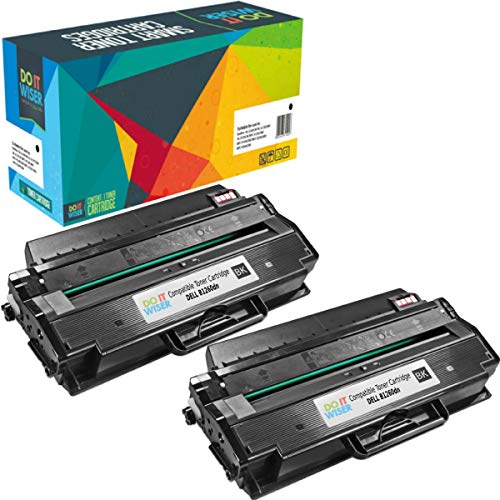 Do it Wiser Compatible Toner Cartridge Replacement for Dell B1265dfw B1260dn B1265dnf | DRYXV 331-7328 RWXNT (2,500 Pages) 2-Pack ()