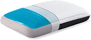 wavveUziz Cooling Pillow Memory Foam Gel Pillow for Sleeping Soft Pillow Bamboo Charcoal Orthopedic Pillow with Two Sided Cover for All Seasons, Standard Size
