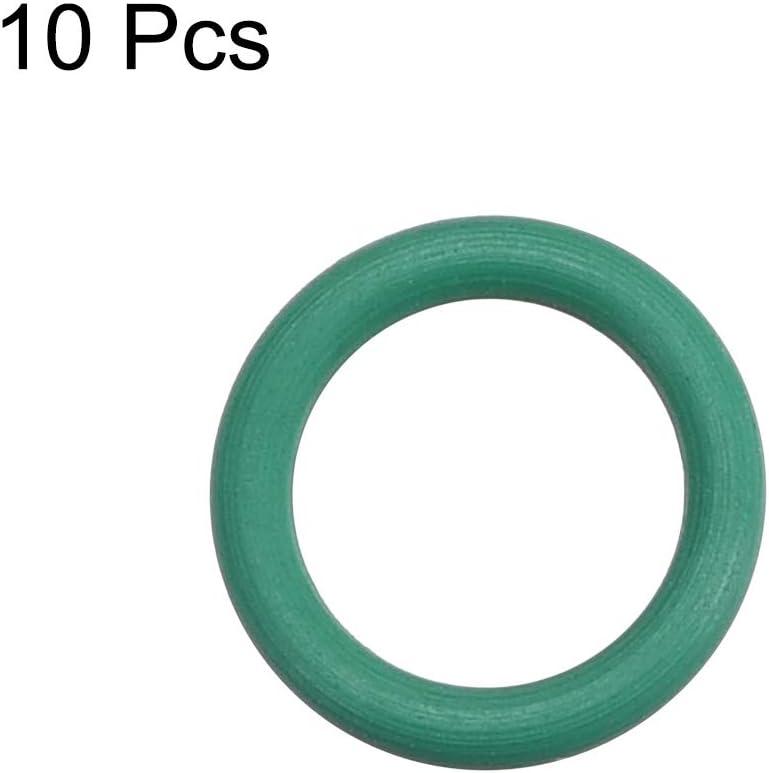 1,5 mm breite Dichtung aus Gummi gr/ün 6 mm x 9 mm x 1,5 mm sourcing map 10 St/ück Fluorkautschuk O Ringe