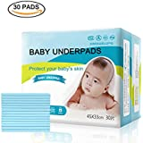 Baby Disposable Changing Pads, 30 Count High Absorbency...