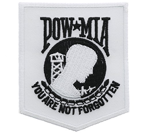 POW MIA You Are Not Forgotten White 2.5 x 3 Inch Patch IVANP3297