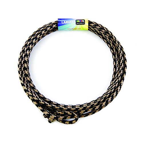 Just Jump It Lil Lariat- Junior Lasso- pre-tied-20', Black & Tan