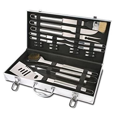 Chefs Basics Select 18-Piece Stainless-Steel BBQ Set with Aluminum Storage Case (Discontinued by Manufacturer)