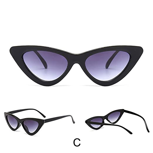 ac8ae3c53e3 Image Unavailable. Image not available for. Color  Women Fashion Cat Eye  Shades Sunglasses Integrated ...