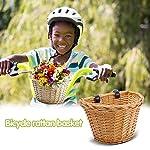 Demiawaking-Cestino-per-Biciclette-in-Vimini-Cestino-Anteriore-per-Bicicletta-Cestino-da-Bicicletta-Vintage-con-Cinghie-in-Pelle