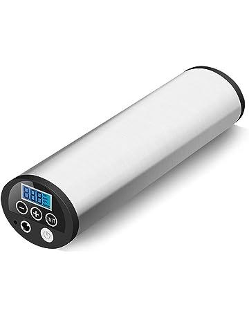 GHB Mini Compresor de Aire Inflador Eléctrico Bomba Eléctrica Portátil 150 PSI Recargable con Pantalla LCD