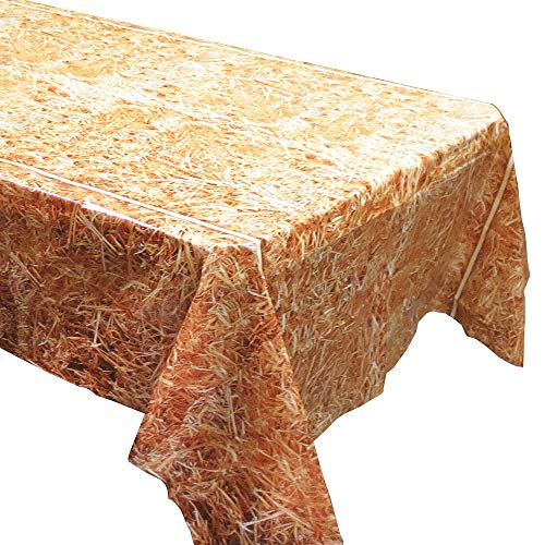 Straw Tablecovers (2), Western Birthdays, Cowboy Party Supplies,