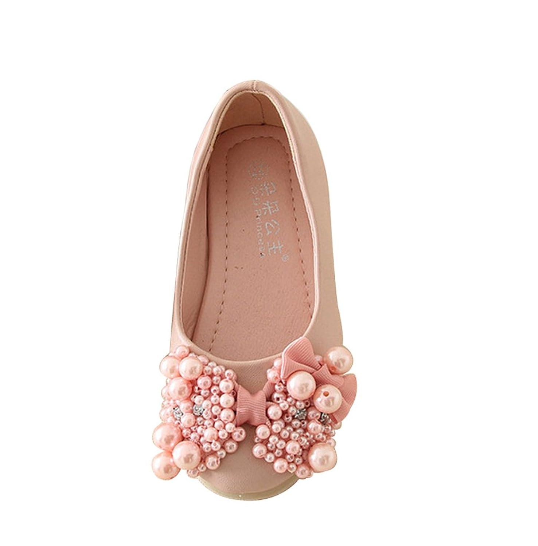 Genda 2Archer Kids Girls Bead Bow Ballet Flats Dress Shoes (Toddler/Little/Big Kids)