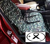 Economic Pet Seat Cover Front Car Mat for Small Medium Dogs Cats - Waterproof Anti-Scratch Seat Cover with Free Safty Seatbelt (Large, Camouflage)