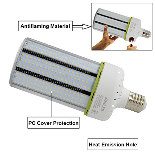 JESLED 150W LED Corn Light Bulb, Large Mogul E39 Base, 20250 Lumens, 5000K Daylight, Replacement for 1000W Equivalent Metal Halide Bulb, HID, CFL, HPS by JESLED (Image #4)
