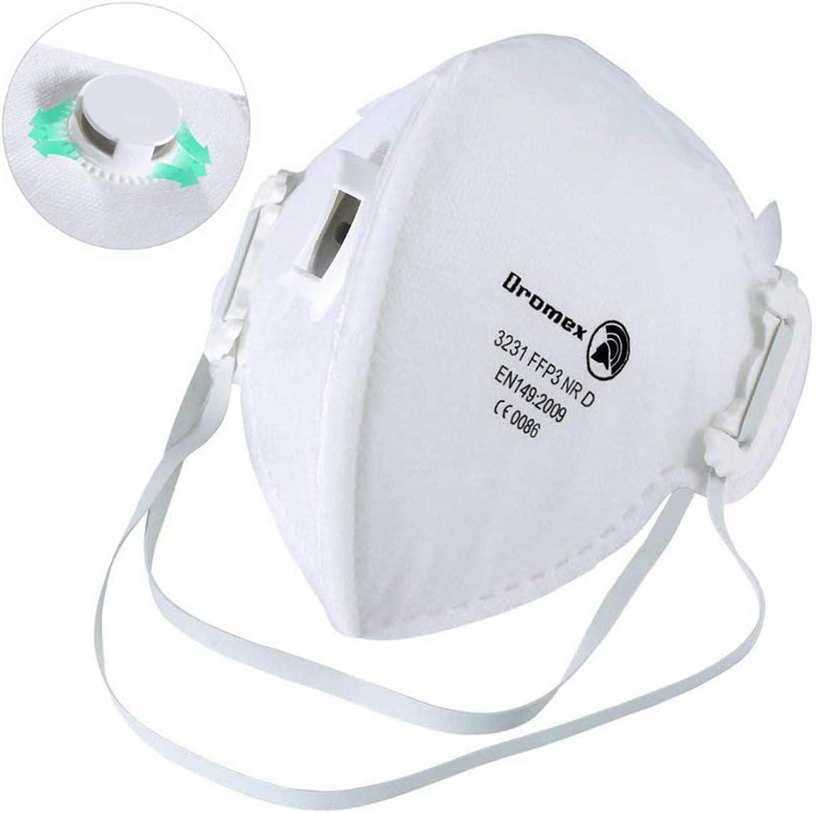 Mascarilla Anti Polución FFP3, Mascarilla de Protección 99% Bacterias Anti PM2.5 Neumonía Protección contra la Influenza Unisex Exterior Anti Polvo de Humo (12pcs)