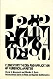 img - for Elementary Theory and Application of Numerical Analysis (Pure & Applied Mathematics) book / textbook / text book
