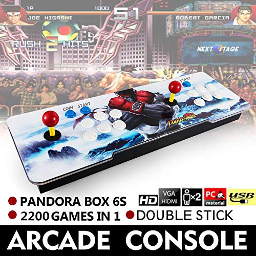 Barbella 2200 HD Arcade Game Console-3D Pandoras Box 6S Arcade Video Game 1080P Game System with 2190 Games Supports 3D Games 1920x1080 Full HD Support TF Card to Expand More Games for PC/TV/PS4 by Barbella (Image #3)