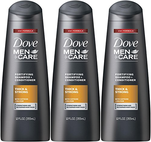 Fortifying Care - Dove Men + Care Thick and Strong Fortifying 2-in-1 Shampoo + Conditioner, 12 Ounce (Pack of 3)
