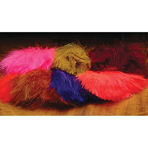 Hareline Marabou Strung Blood Quills Red