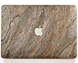 WOODWE Real Stone MacBook Skin for Mac Pro 13 inch with/Without Touch Bar | Model: A1706/A1708/A1989; Late 2016 - Mid 2018 | Natural Burning Forest Stone | TOP&Bottom