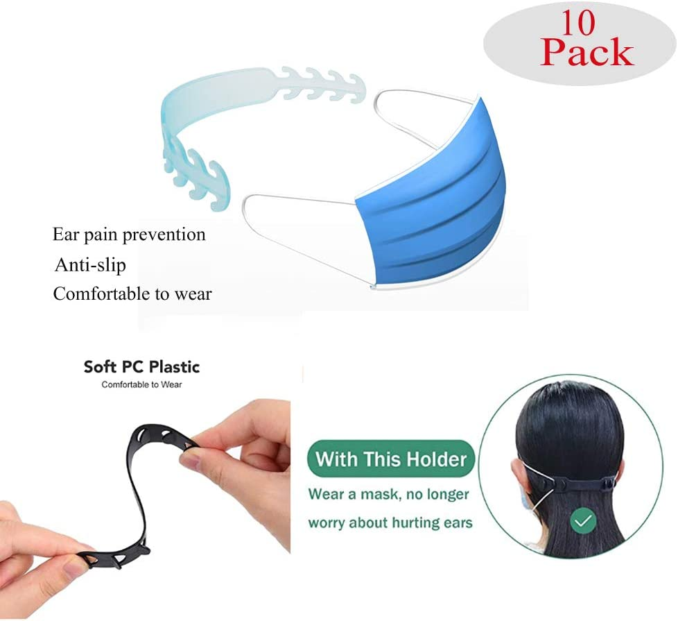KOW Mask Ear Strap Hook Adjustable 10 Pcs