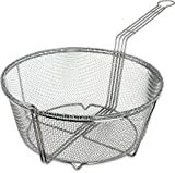 Carlisle 601003 Chrome Plated Nickel Steel Mesh Fryer Basket, 13.5'' Diameter x 6.25'' Depth (Case of 12)