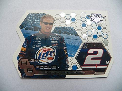 (2004 Wheels High Gear High Groove HG26 Rusty Wallace Miller Lite NASCAR Racing Card)