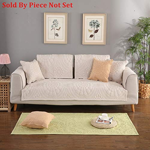 Sectional sofa throw cover pad All season Sofa furniture protector for pets dog Anti-slip Cotton Solid color Sofa throw slipcover-1 piece-D 28x28inch(70x70cm)