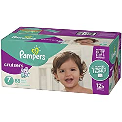 Pampers Cruisers Disposable Diapers Size 7, 88 Count, ONE MONTH SUPPLY