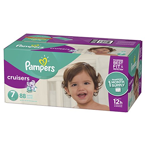 Large Product Image of Pampers Cruisers Disposable Diapers Size 7, 88 Count, ONE MONTH SUPPLY