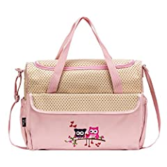 Great 10 pieces Fashion diaper bag set for stylish Mom. Made of 100% Nylon, easy to wipe clean. 1. Extra roomy main compartment with multiple pockets ,Reliable zip-top closure with carrying strap, 2. Mid-Size Tote bag with zipper closure and ...