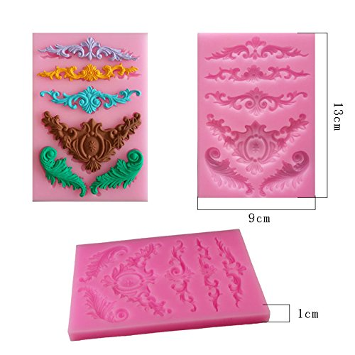 SHINA New Arrival Silicone Fondant Sugar Gothic Elegant Embossment Cake Craft Mold