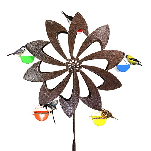 Cheap Exhart Ferris Feeder – Bronze Pinwheel, Bird Feeder, Spinning Wheel Feeder, Backyard/Outdoor / Garden